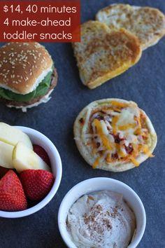 Make ahead toddler snacks