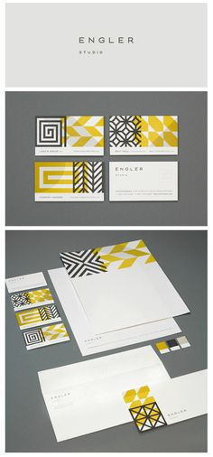 Patterns with slight differences from each other, nicely used. by Engler Studio #branding #identity