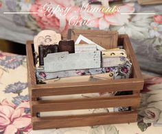 Vintage crate to store those #gypsymoments