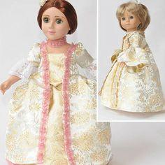 Carpatina Clothes Pattern Doll Robe a la Francais