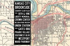 Kansas City Bus Scroll canvas by Mercantile Mill