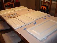 cabinet painting step by step - kitchen