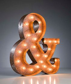 Ampersand Marquee Light by Vintage Marquee Lights eclectic table lamps