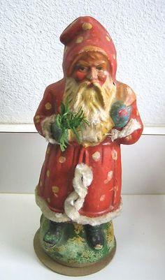 Antique German Belsnickle Santa Spotted Coat Candy Container | eBay coat candi, antiqu german