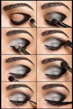 beauty makeup, eye makeup, eyeshadow, color, eyebrow, fashion beauty, smokey eye, hair, black