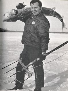 vintage Michigan!--ice fishing in Michigan can be scary!