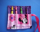 Minnie Mouse Mini Crayon Keeper Roll Up Holder 4-Count Party Favor