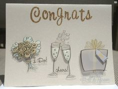Handmade Congrats on your Wedding Cards  Set of 5 by TinyGardyn, $16.00