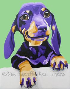 8x10 Archival Print Dachshund by bluegiraffeartist on Etsy