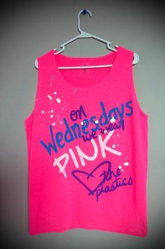 On Wednesdays We Wear Pink Tank Top (Large). $19.00, via Etsy.
