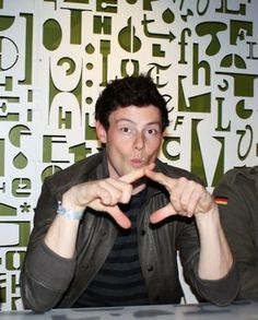 Cory Monteith showing a little Chi Omega love...hot