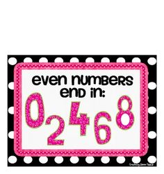 Even and Odd Numbers Posters