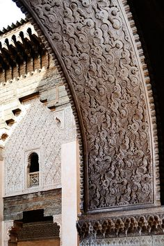 Threshold by NikonianPhil, Ben Youssef Madrasa Islamic college in Marrakech