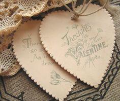 paper heart Valentines