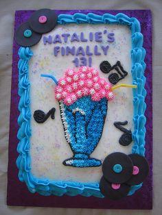 50's Soda Pop Birthday Cake by Linzi's Cakes, via Flickr