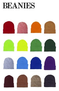 Beanies by American Apparel, comes in 25 colors!  #beanies #knits #winteraccessories #colors #AmericanApparel #PinATripWithAA