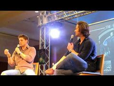 [VIDEO] Jensen and Jared convention panel talking about their likes and dislikes about their characters (+ Misha intruding ahaha.  I love how quick to react Jared was, as soon as Misha's voice came over the speaker) #JIB2010