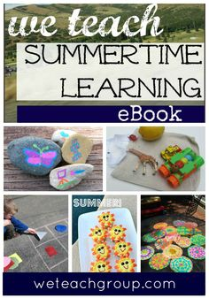 30+ free, fun, family-focused ideas for making summer FUN for kids!  'we teach' Summertime Learning eBook.