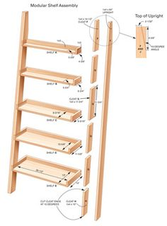leaning tower shelves building plans