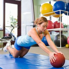 Trying to strengthen your chest? A medicine ball is one of the best tools to use! #exercise #workout | Health.com