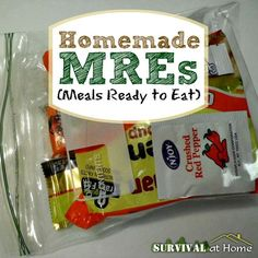 Homemade MREs | Survival at Home | #prepbloggers #foodstorage #homemade