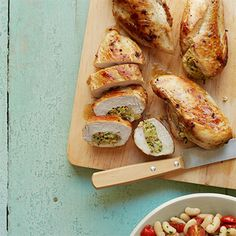 Artichoke and Almond-Stuffed Chicken Breasts
