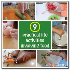 9 practical life activities involving food - Gift of Curiosity