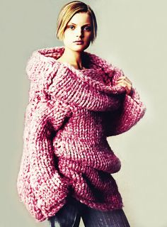 mcqueen pink knit sweater - Vogue 1999