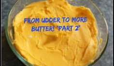 Butter - how to make it.