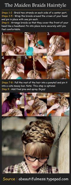 The Maiden Braids Hairstyle