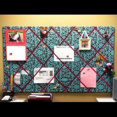 DIY: spruced up my drab office bulletin board!