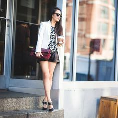 Wendy Nguyen of Wendy's Lookbook makes a stylish NYFW statement in a Leopard Tee from Banana Republic.