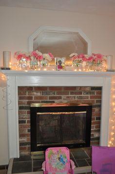 Princess Party mantle decor