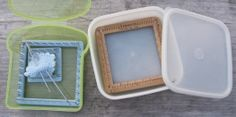 Pin Loom Weaving: Ideas for Pin Loom Containers