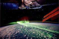 northern lights from the ISS