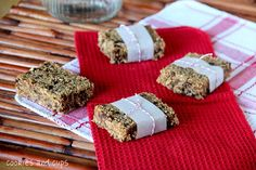 They are much like the Clif Bars that you can buy in the supermarket…but better, because you make them.  Homemade is always better, don't you think?