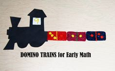 Creating DOMINOES:  Early Math for Preschool.  Games, Template, and Activity Suggestions including the DOMINO TRAIN