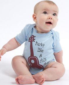 Party Like a Folk Star Baby Bodysuit #eco #folk #baby #soulflower