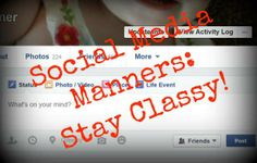 Watch your manners on social media - it could affect your business and your future!