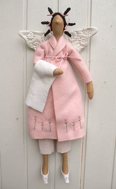 Tilda bathroom doll in pink