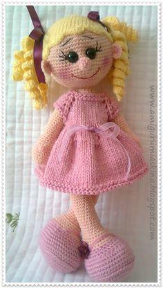Amigurumi Toys: Sarışın Lola Doll