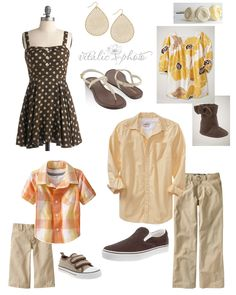 Fall inspired family photoshoot outfits