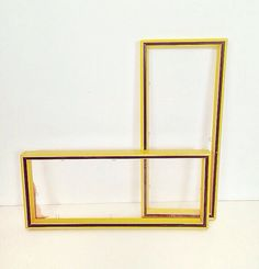 vintage yellow and black wooden frames  set of 2 by forrestinavintage, $12.00