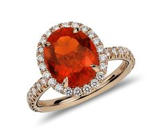 fire opal engagement bling! **gasp!**