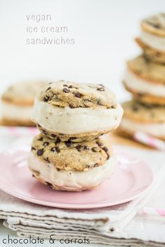Vegan Ice Cream Sandwiches | chocolateandcarrots.com