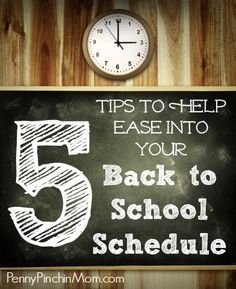 Back to School Schedule Tips | www.pennypinchinmom.com  #back to school  #schedule  #organize