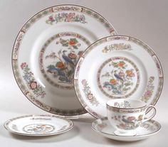 Wedgewood Kutani Crane - My favorite china pattern