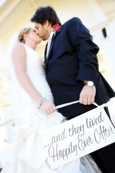 and they lived Happily Ever After -One sided -  Ring Bearer sign, Flower girl sign, Disney Wedding Sign via Etsy
