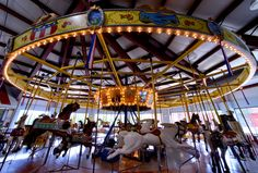 The people of Leavenworth purchased an old Parker carousel (originally built there) and restored it to its glory.