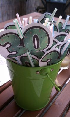 30th birthday straws